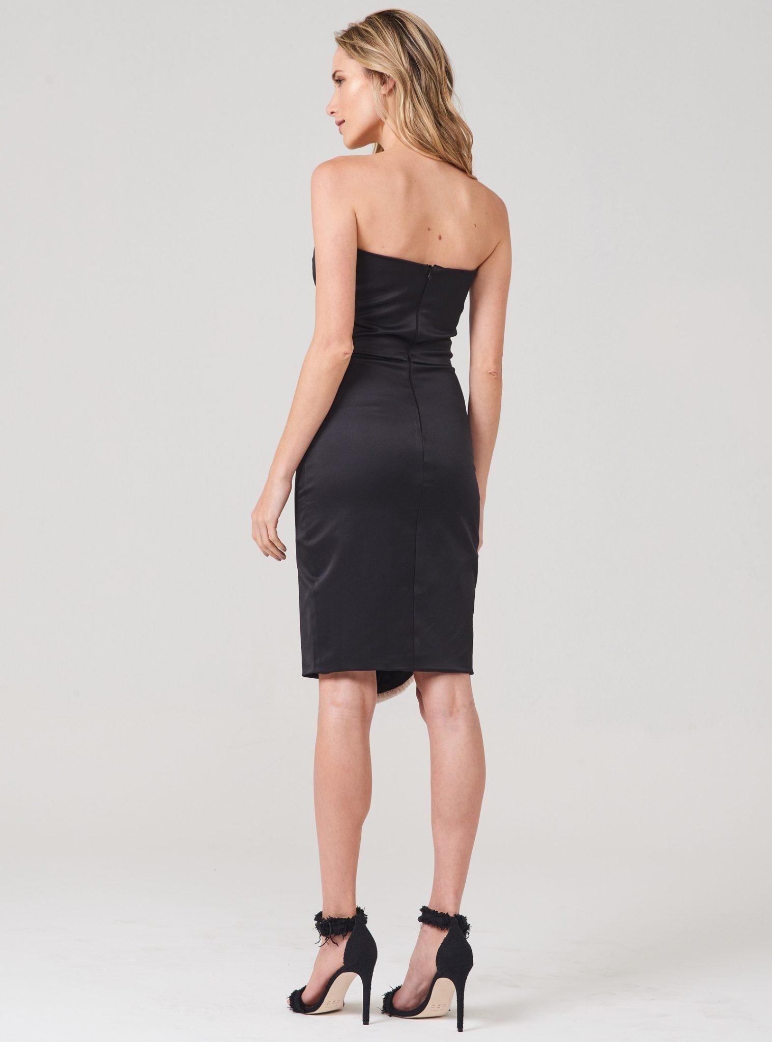 Vestido Strapless Dress – Preto – Corporeum